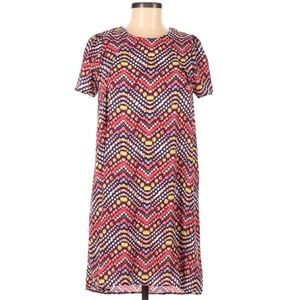 Everly Medium High Low Didgy Dot Dress Colorful M